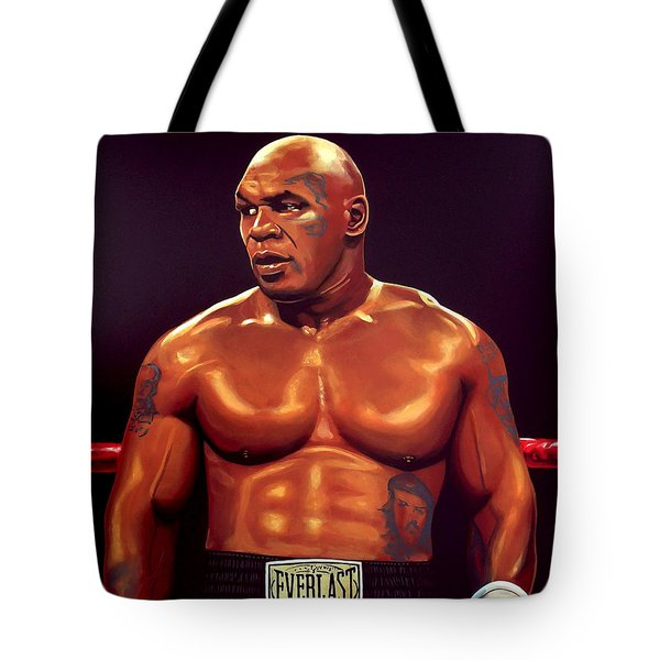 Mike Tyson Tote Bag by Paul Meijering