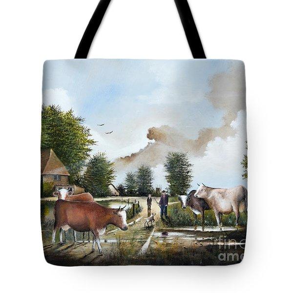 Milking Time Tote Bag
