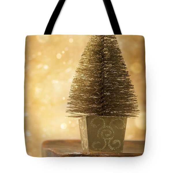 Miniature Christmas Tree Tote Bag by Amanda Elwell