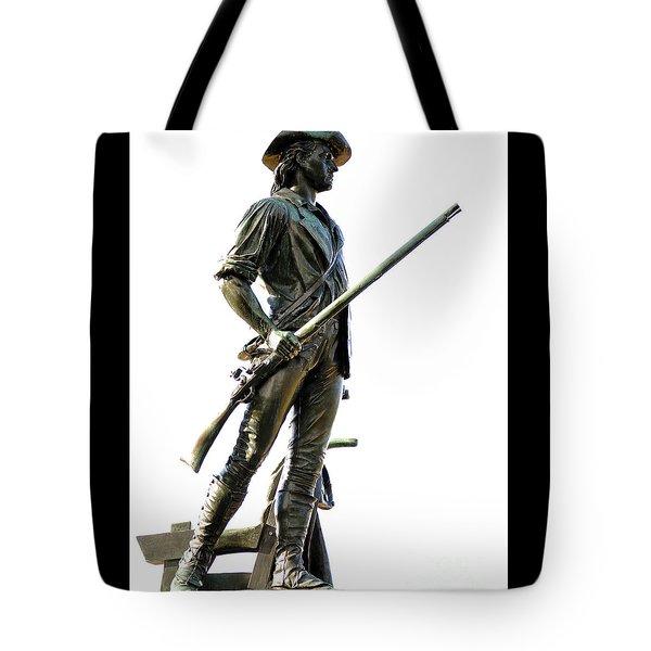 Minute Man Statue Concord Ma Tote Bag