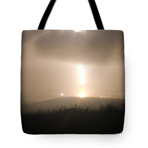 Tote Bag featuring the photograph Minuteman IIi Missile Test by Science Source