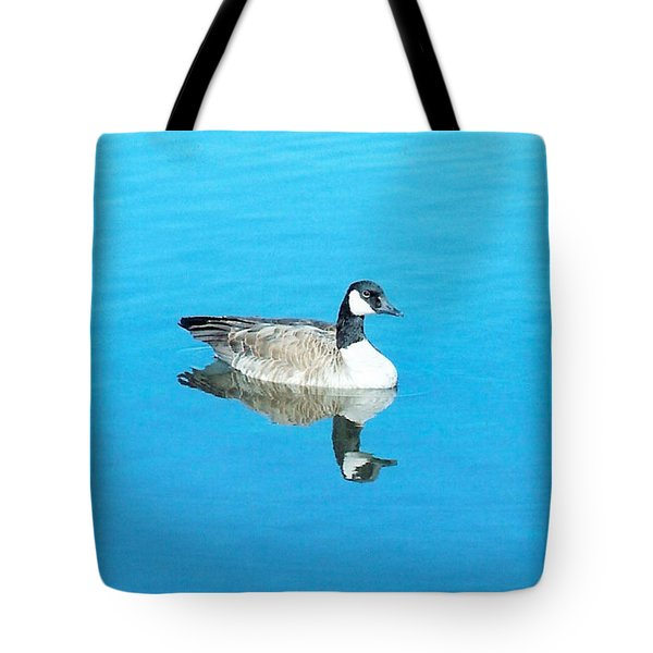 Tote Bag featuring the photograph Mirror Goose by Kerri Mortenson
