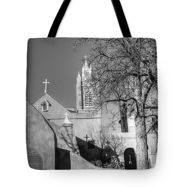 Mission In Black And White Tote Bag