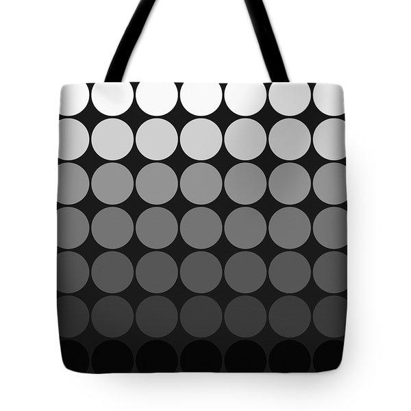 Mod Pop Gradient Circles Black And White Tote Bag
