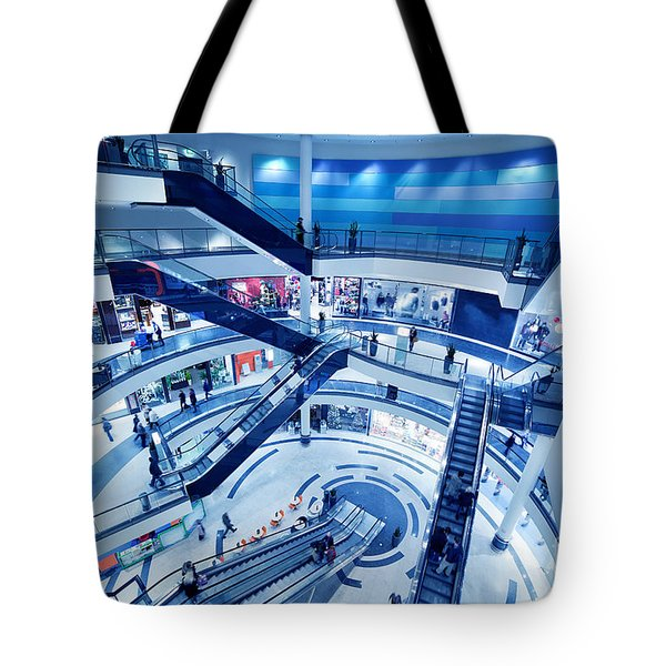 Modern Shopping Mall Interior Tote Bag by Michal Bednarek