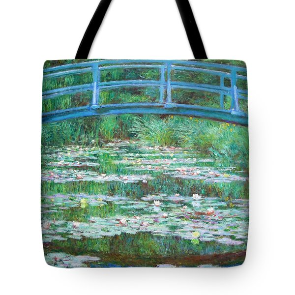 Tote Bag featuring the photograph Monet's The Japanese Footbridge by Cora Wandel