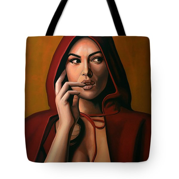 Monica Bellucci Tote Bag by Paul Meijering