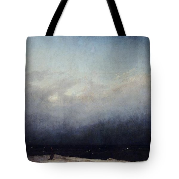 Monk By Sea Tote Bag by  Caspar David Friedrich