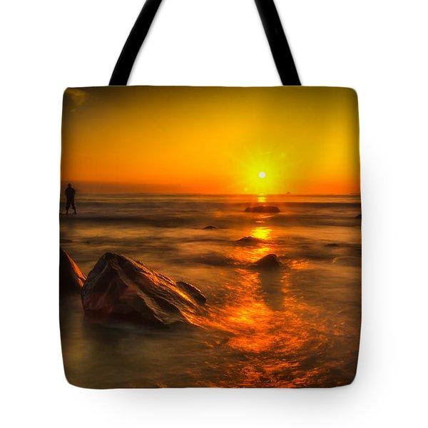 Montauk New York Summer Sunrise Tote Bag