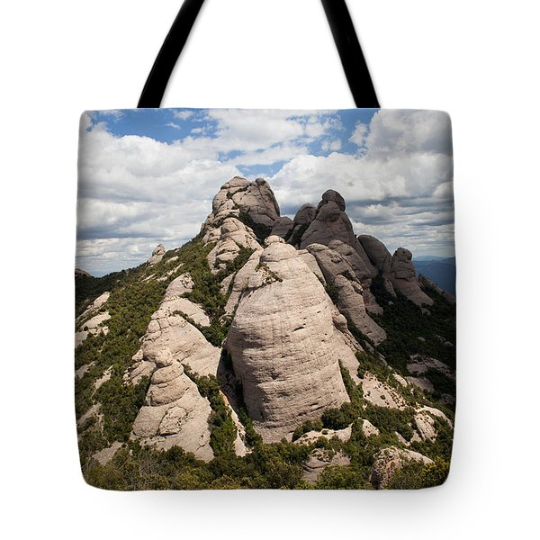 Montserrat Mountain In Spain Tote Bag