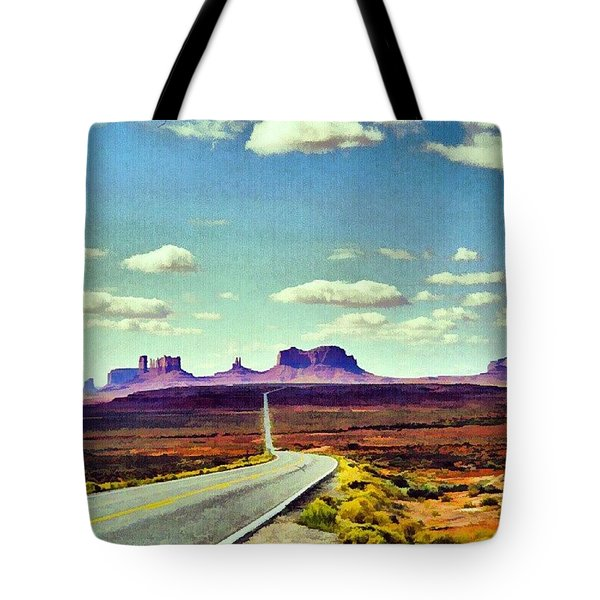 Easy Riding Thru Monument Valley Az/ut Usa Tote Bag
