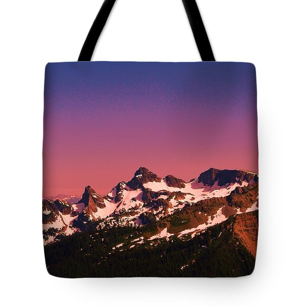 Morning In The Cascades Tote Bag