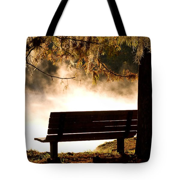 Morning Mist At The Spring Tote Bag
