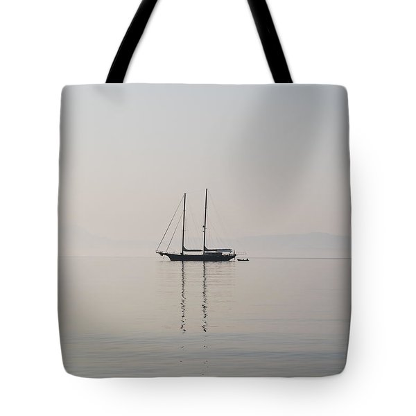 Tote Bag featuring the photograph Morning Mist by George Katechis