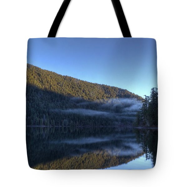 Morning Mist Tote Bag by Randy Hall