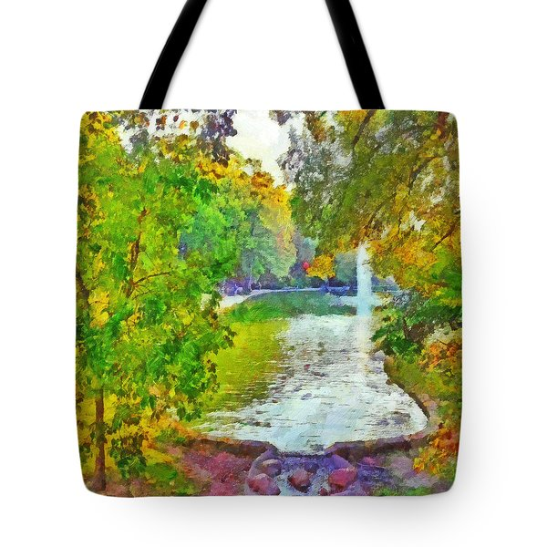 Morning On The First Day Of Classes. Mirror Lake. The Ohio State University Tote Bag