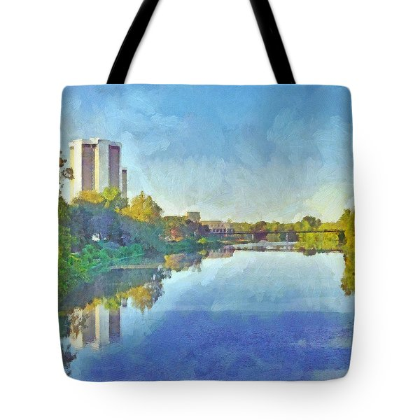 Morning On The First Day Of Classes. Towers On The Olentangy. The Ohio State University Tote Bag