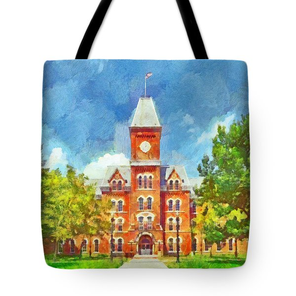 Morning On The First Day Of Classes.  University Hall.  The Ohio State University Tote Bag
