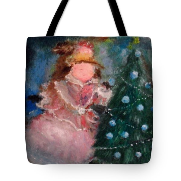 Tote Bag featuring the painting Mother Christmas by Laurie L