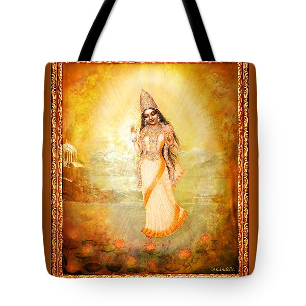 Mother Goddess With Angels Tote Bag