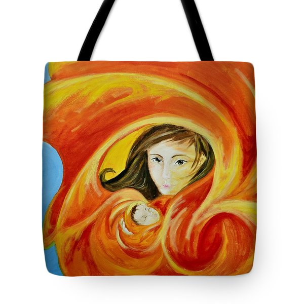 Mother's Warmth Tote Bag