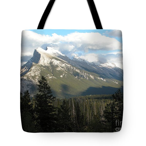 Mount Rundle Tote Bag by Stuart Turnbull