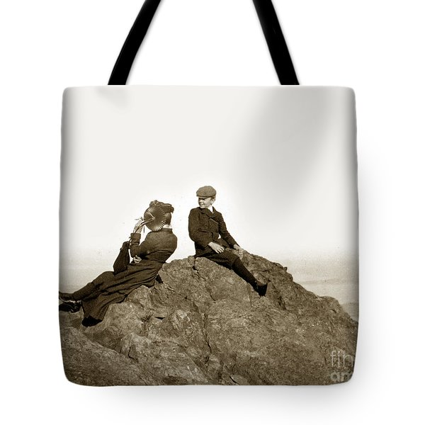Tote Bag featuring the photograph Mount Tamalpais Marin County  Circa 1902 by California Views Mr Pat Hathaway Archives