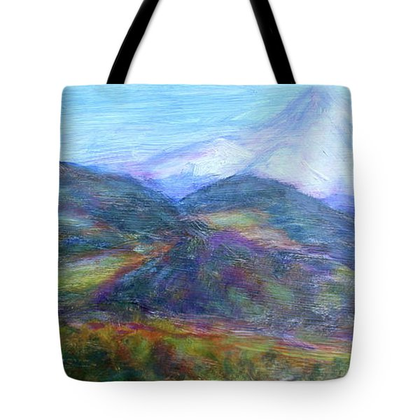 Mountain Patchwork Tote Bag by Quin Sweetman