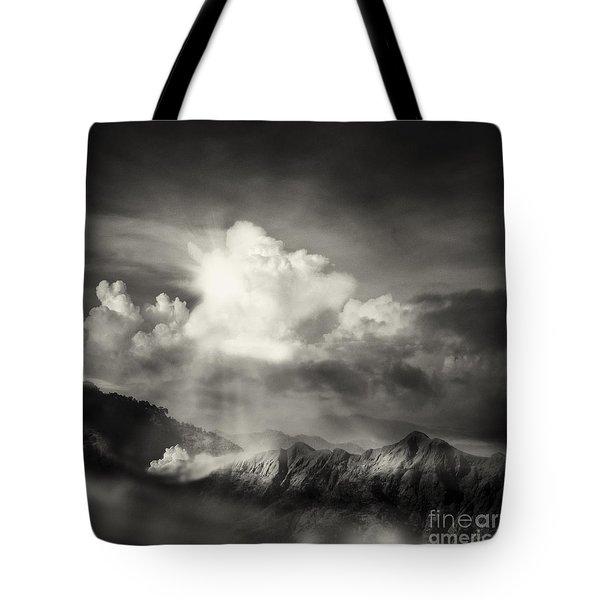 Mountain View Tote Bag by Setsiri Silapasuwanchai