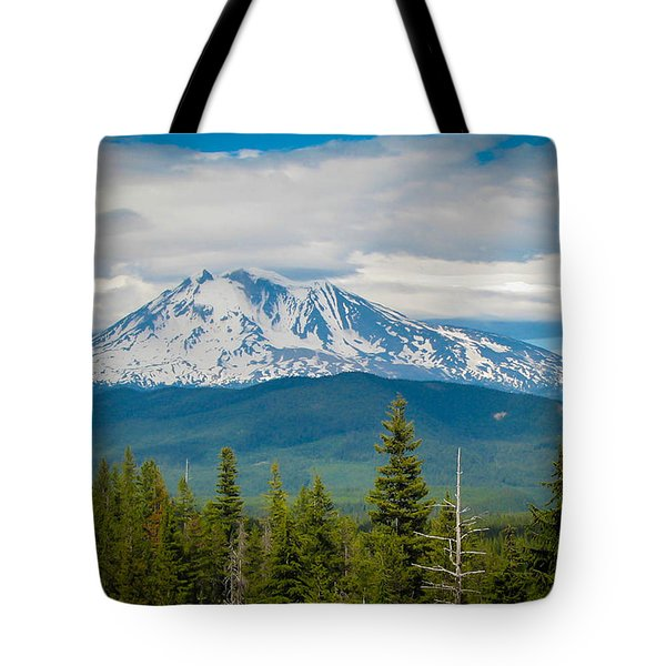 Mt. Adams From Indian Heaven Wilderness Tote Bag by Patricia Babbitt