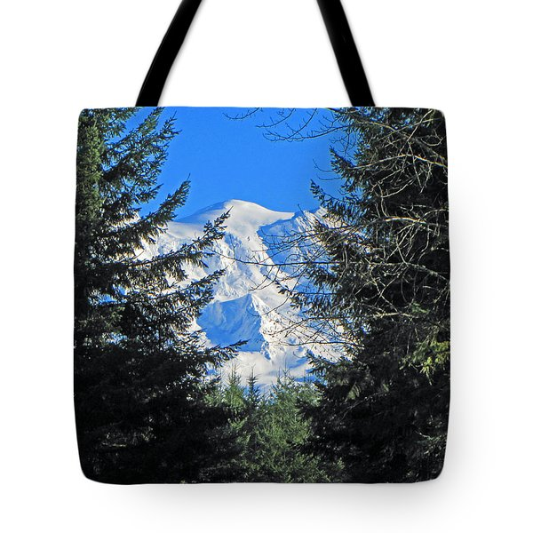 Tote Bag featuring the photograph Mt. Rainier I by Tikvah's Hope