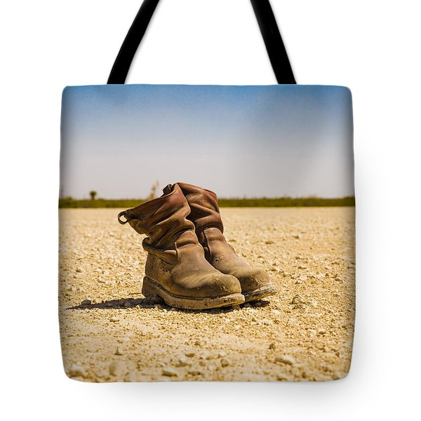 Muddy Work Boots Tote Bag