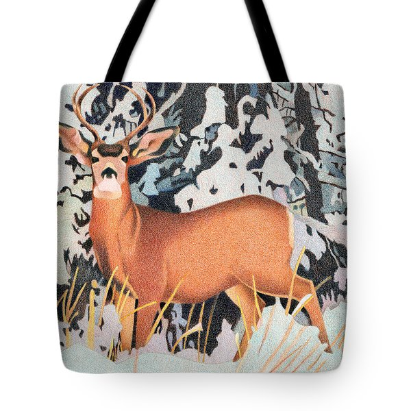 Mule Deer Tote Bag by Dan Miller