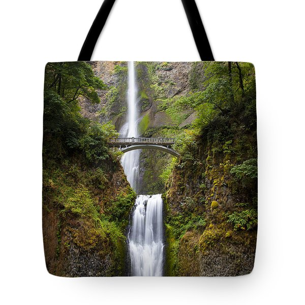 Tote Bag featuring the photograph Multnomah Falls by Brian Jannsen
