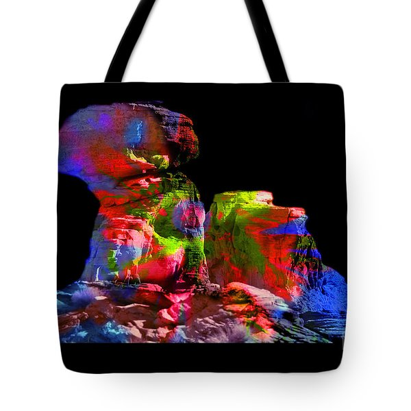 Mushroom Rock Tote Bag by Gunter Nezhoda