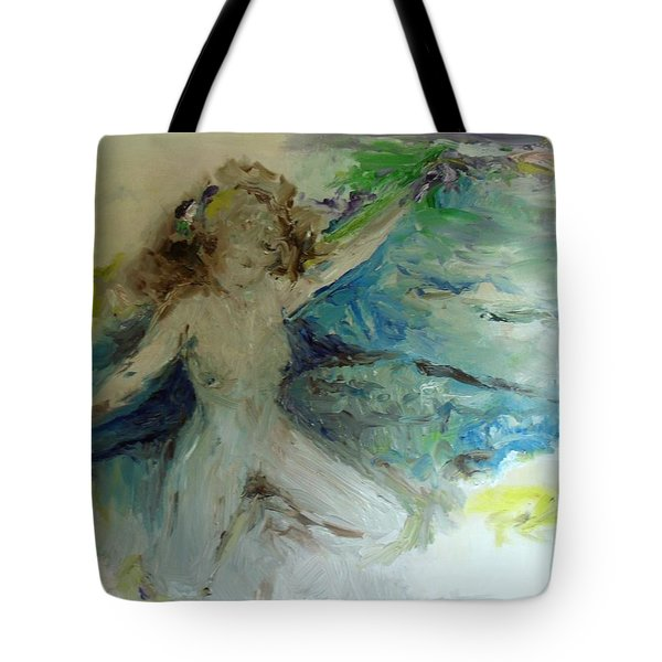 Tote Bag featuring the painting My Vagina by Laurie L