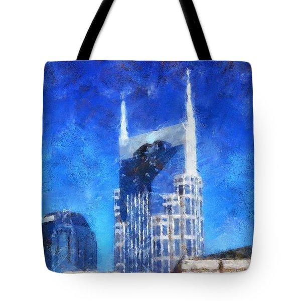 Nashville Skyline Tote Bag by Dan Sproul