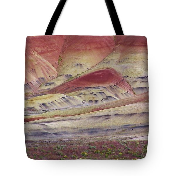 John Day Fossil Beds Painted Hills Tote Bag by Michele Penner