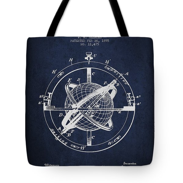Nautical Observation Apparatus Patent From 1895 - Green Tote Bag