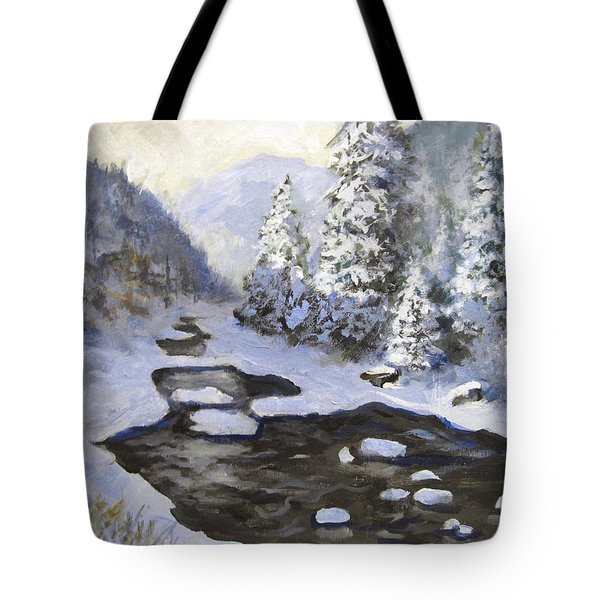 New Snow Tote Bag