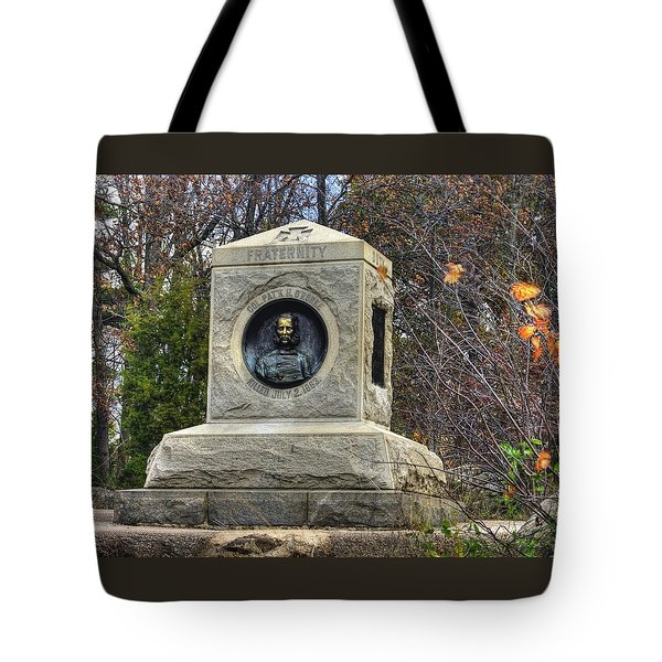 New York At Gettysburg - 140th Ny Volunteer Infantry Little Round Top Colonel Patrick O' Rorke Tote Bag