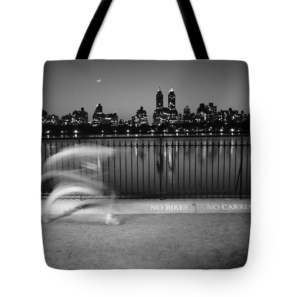 Night Jogger Central Park Tote Bag