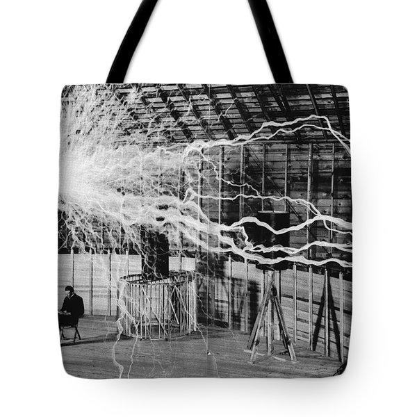 Nikola Tesla Serbian-american Inventor Tote Bag