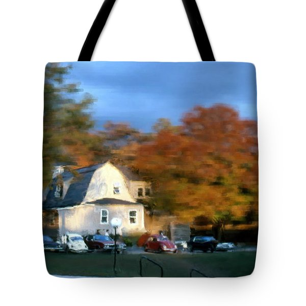 Tote Bag featuring the painting Northeastern Bible College by Bruce Nutting