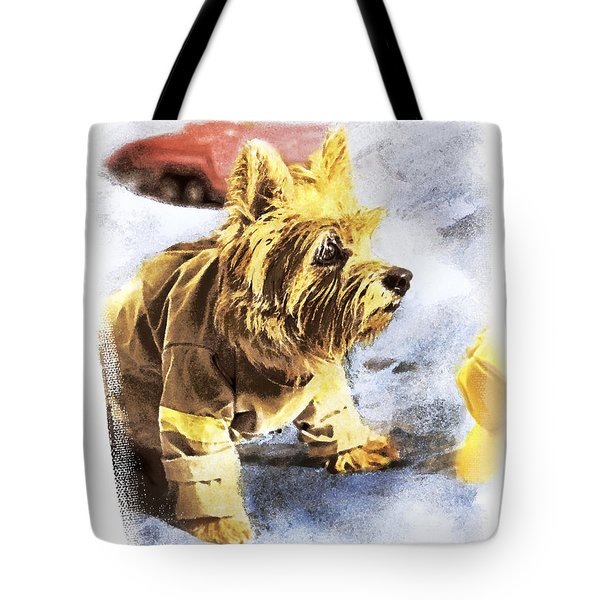 Norwich Terrier Fire Dog Tote Bag