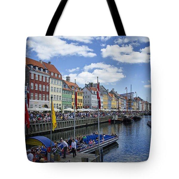 Nyhavn - Copenhagen Denmark Tote Bag by Jon Berghoff