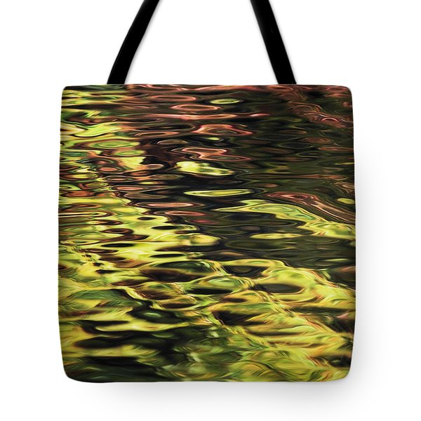 Oak And Maple Trees Reflections In Tote Bag by Thomas Kitchin & Victoria Hurst