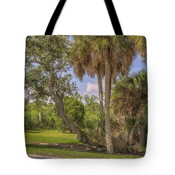 Tote Bag featuring the photograph Oak Trees by Jane Luxton