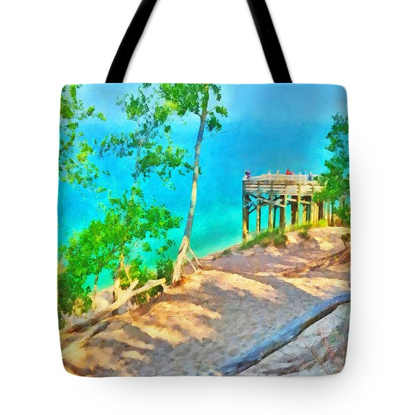 Observation Deck On The Pierce Stocking Scenic Drive Tote Bag
