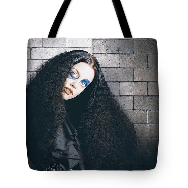 Occult Medieval Performer On Castle Brick Wall Tote Bag